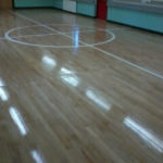 Gym floor maple sanded